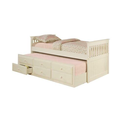 Transitional White Twin Daybed