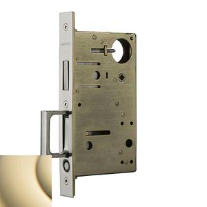 Lifetime Polished Brass 8602 Pocket Door Lock with Pull Product Image