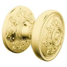 View Product - Satin Brass and Brown K006 Estate Knob