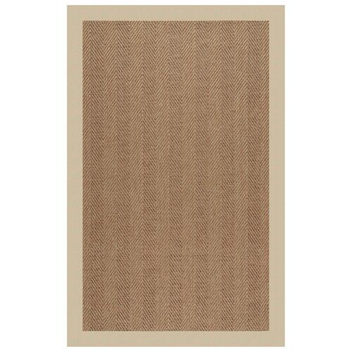 "Capel Rugs - Islamorada-Herringbone Canvas Antique Beige - Rectangle - 24"" x 36"""