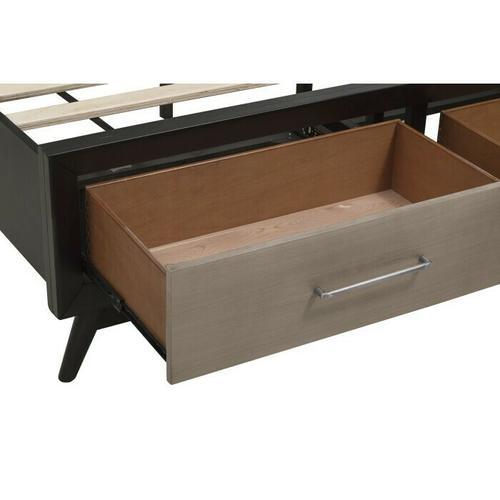 Homelegance - California King Platform Bed with Footboard Storage