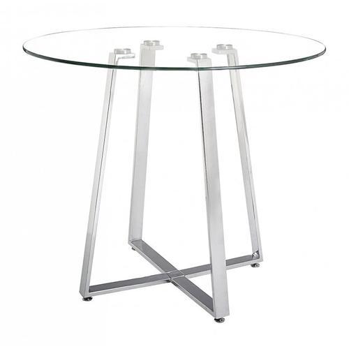 Lemon Drop Counter Table Chrome