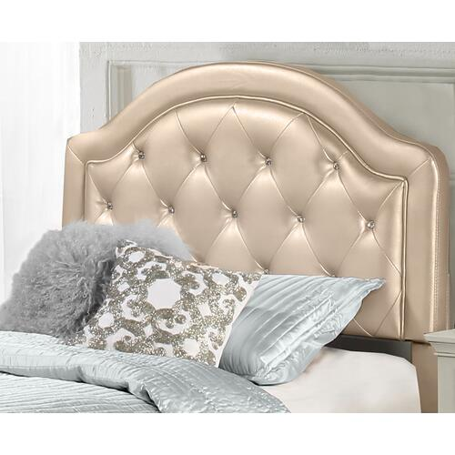 Product Image - Karley Complete Full-size Headboard Set, Champagne Faux Leather