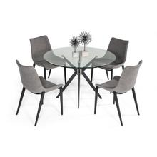 View Product - Modrest Dallas - Modern Black Dining Table