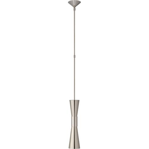 AERIN Clarkson 2 Light 5 inch Polished Nickel Narrow Pendant Ceiling Light, Medium