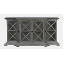 Carrington Large Breakfront Cabinet - Grey