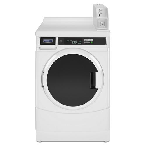 "27"" Commercial Electric Front-Load Dryer, Non-Vend White"