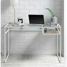 ACME Yasin Desk - 92582 - White & Glass