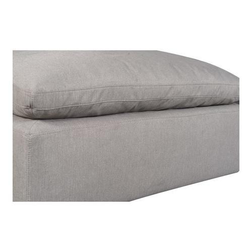 Moe's Home Collection - Terra Condo Ottoman Livesmart Fabric Light Grey