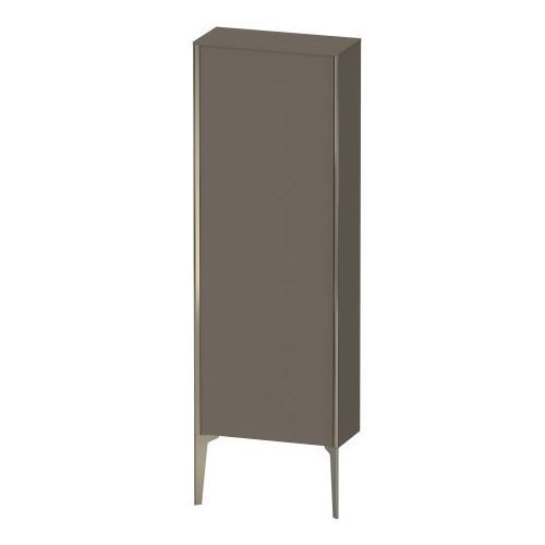 Semi-tall Cabinet Floorstanding, Flannel Gray Satin Matte (lacquer)