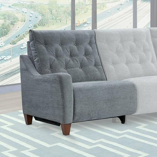 Parker House - CHELSEA - WILLOW GREY Power Left Arm Facing Recliner