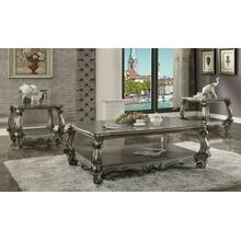 ACME Versailles Coffee Table - 86820 - Antique Platinum