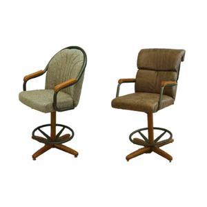 "All Wood Furniture - Douglas Tilt Swivel 24"" Barstools"