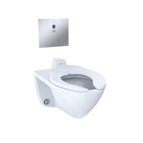 Commercial Flushometer Ultra-High Efficiency Toilet, 1.0 GPF, Elongated Bowl - Back Spud - CEFIONTECT - Cotton