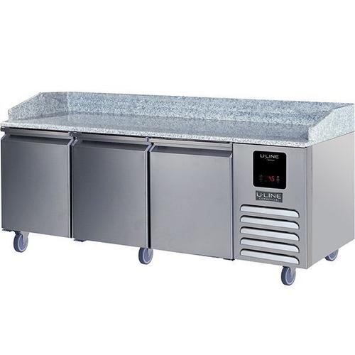 U-Line - 3 Door Pizza Prep-table Refrigerator With Stainless Solid Finish (115v/60 Hz Volts /60 Hz Hz)