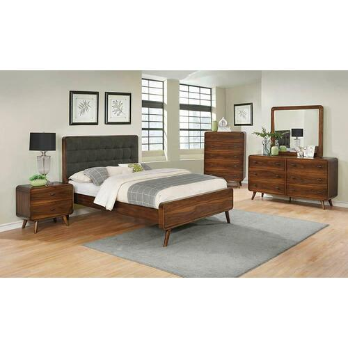 Robyn Mid-century Modern Dark Walnut Eastern King Bed