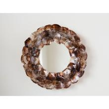 """Product Image - 27-1/2"""" Round Capiz Shell Wall Mirror"""