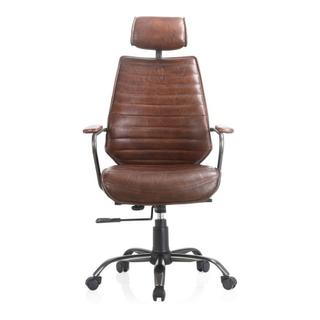 See Details - Executive Office Chair Cappuccino Brown Leather
