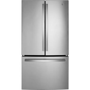 GE® ENERGY STAR® 27.0 Cu. Ft. Fingerprint Resistant French-Door Refrigerator - FINGERPRINT RESISTANT STAINLESS