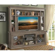 See Details - SUNDANCE - SANDSTONE 92 in. Console with Hutch & Backpanel