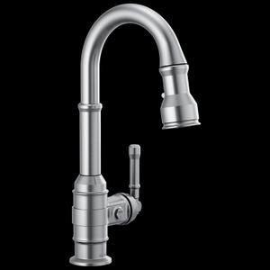 Arctic Stainless Single Handle Pull-Down Bar/Prep Faucet Product Image