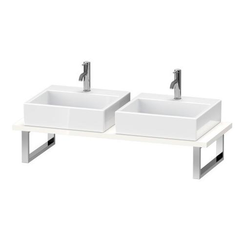 Console For Above-counter Basin And Vanity Basin, White High Gloss (lacquer)