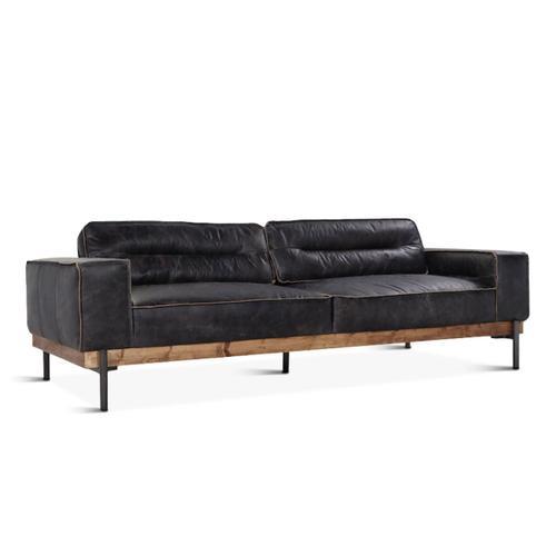 Product Image - Portofino Leather Sofa Antique Ebony