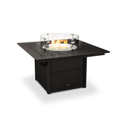 "Black Square 42"" Fire Pit Table"