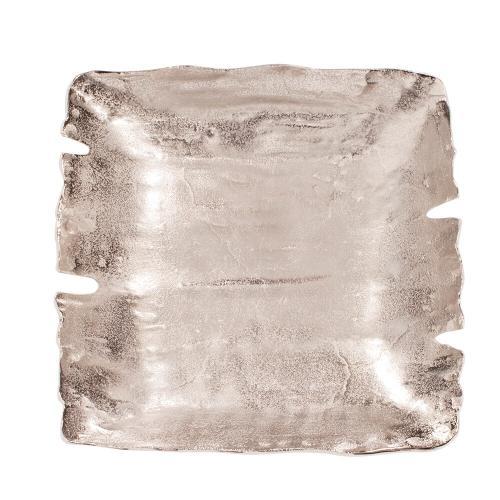 Howard Elliott - Square Nickel Aluminum Bowl, Large