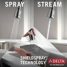 Spotshield Stainless Single Handle Pull-Down Kitchen Faucet with ShieldSpray ® Technology