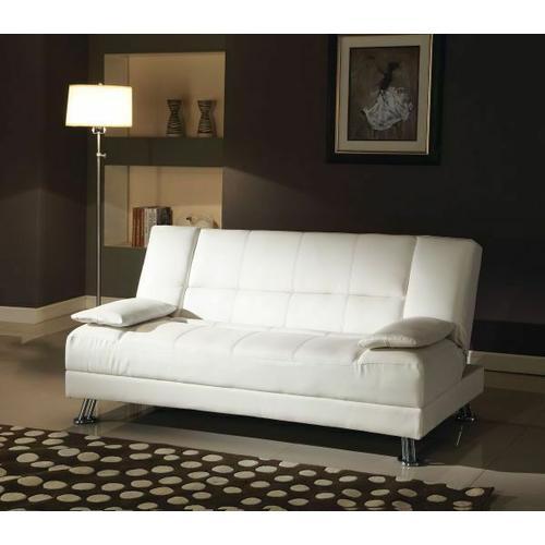 Acme Furniture Inc - ACME Fae Adjustable Sofa w/2 Pillows - 57079 - White PU