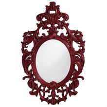 View Product - Dorsiere Mirror - Glossy Burgundy