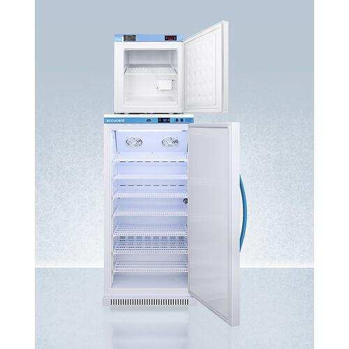 Stacked Combination of Ars8pv All-refrigerator and Fs24lmed2 Compact Manual Defrost All-freezer for Vaccine Storage