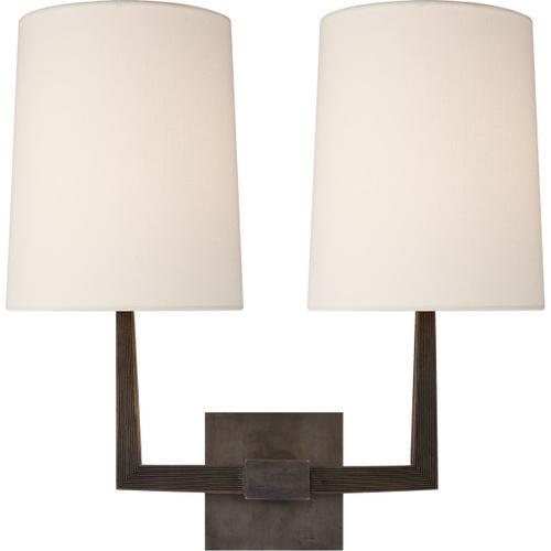 Visual Comfort - Barbara Barry Ojai 2 Light 17 inch Bronze Double Arm Sconce Wall Light, Large