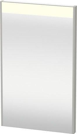 Mirror With Lighting, Concrete Gray Matte (decor) Product Image