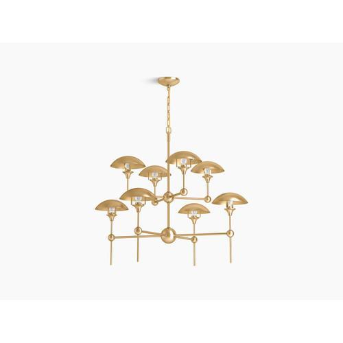 Kohler - Brushed Moderne Brass Eight-light Chandelier