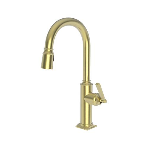 Newport Brass - Satin Brass - PVD Pull-down Kitchen Faucet