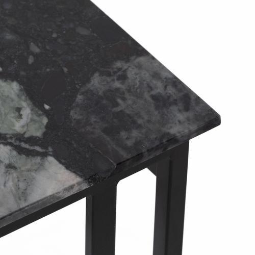 Danilo End Table-multi Black Marble