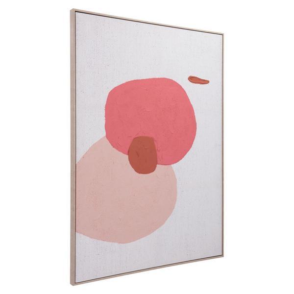 Geode Canvas Pink
