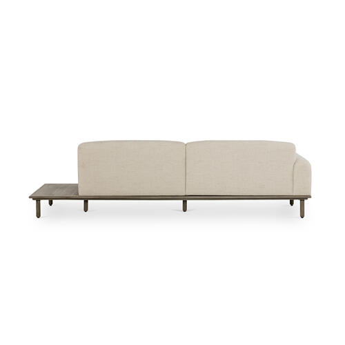 Encino Bisque Cover Right Arm Facing Configuration Clark Sofa W/ Table