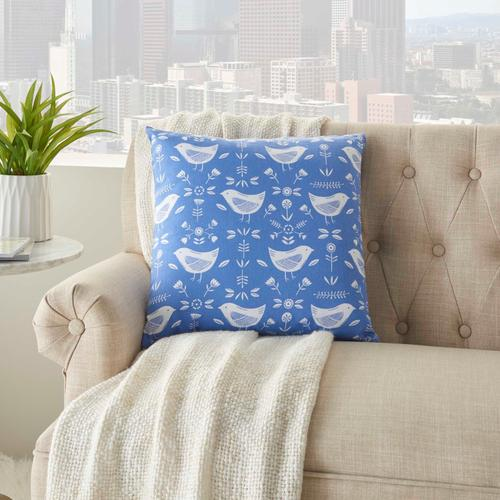 "Life Styles Ss913 Blue 18"" X 18"" Throw Pillow"