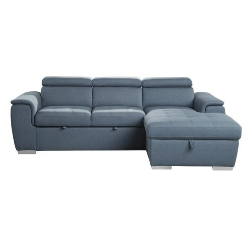 Gallery - 2-Piece Sectional with Pull-out Bed and Adjustable Headrests