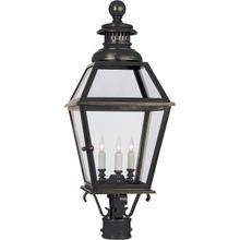 E. F. Chapman Chelsea 3 Light 30 inch Bronze Outdoor Post Lantern