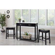 See Details - Traditional Black Three-piece Dining Set