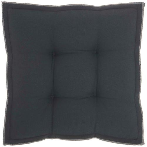 "Outdoor Pillows Qy029 Charcoal 18"" X 18"" X 3"" Seat Cushion"