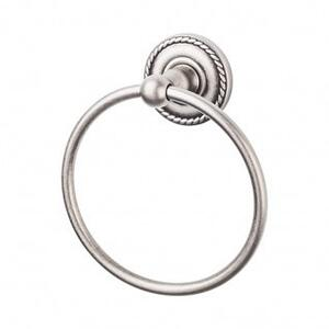 Edwardian Bath Ring Rope Backplate - Antique Pewter Product Image