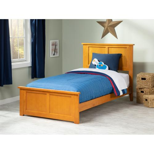 Madison Twin XL Bed with Matching Foot Board in Caramel Latte