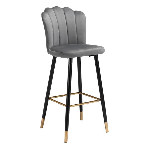 See Details - Zinclair Bar Chair Gray