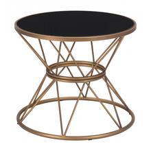 See Details - Samuel Side Table Black & Gold