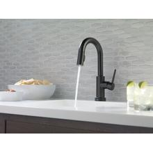 Matte Black Single Handle Pull-Down Bar / Prep Faucet with Touch 2 O ® Technology